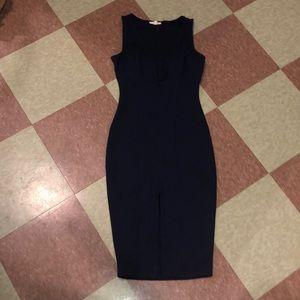Plunge bodycon dress navy love culture sm